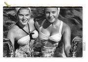 Bathing Beauties Black And White Carry-all Pouch