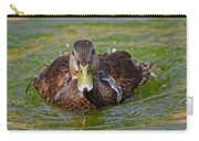 Bathing Black Duck Carry-all Pouch