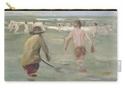 Bathing Boys With Crab Fisherman Carry-all Pouch