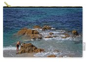 Bathing In The Sea - La Coruna Carry-all Pouch by Mary Machare