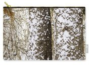 Battered By Winter Blizzard Carry-all Pouch