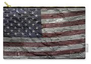 Battered Old Glory Carry-all Pouch