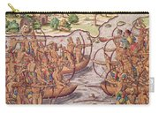 Battle Between Indian Tribes Carry-all Pouch