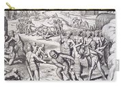 Battle Between Tuppin Tribes Carry-all Pouch