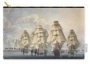 Battle Of Trafalgar Carry-all Pouch by Robert Dodd