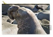 Bull Elephant Seal Battle Scars Carry-all Pouch
