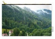 Bavarian Mountain Slope With Mist Carry-all Pouch
