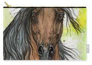 Bay Arabian Horse Watercolor Painting  Carry-all Pouch