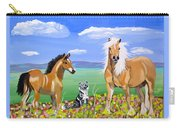 Bay Colt Golden Palomino And Pal Carry-all Pouch