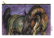 Bay Horse On The Purple Background Carry-all Pouch