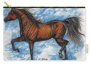 Bay Horse Running Carry-all Pouch