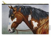 Bay Native American War Horse Carry-all Pouch by Crista Forest