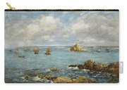 Bay Of Douarnenez Carry-all Pouch by Eugene Louis Boudin