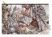 Bayard Defends The Bridge, Illustration Carry-all Pouch