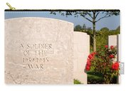 Bayeux British Cemetery Unknown Soldier Carry-all Pouch