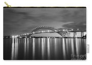 Bayonne Bridge In Black And White Carry-all Pouch