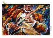 Bb King - Palette Knife Oil Painting On Canvas By Leonid Afremov Carry-all Pouch