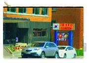 Bbq Coreen Korean Resto Cavendish St Jacques Montreal Summer Cafe City Scene Carole Spandau Carry-all Pouch