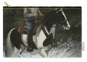 Big Creek Man On Spotted Horse Carry-all Pouch