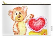 Be My Valentine Teddy Bear Carry-all Pouch