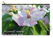 Be Yourself Flower Carry-all Pouch