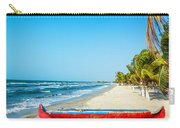 Beach And Red Canoe Carry-all Pouch