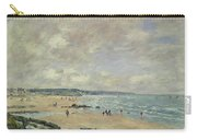 Beach At Trouville Carry-all Pouch