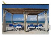 Beach Cabana With Lounge Chairs Carry-all Pouch