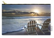 Beach Chairs Carry-all Pouch by Debra and Dave Vanderlaan