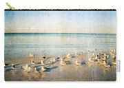 Beach Combers - Seagull Art By Sharon Cummings Carry-all Pouch by Sharon Cummings