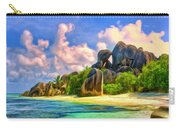 Beach Cove On La Digue Carry-all Pouch