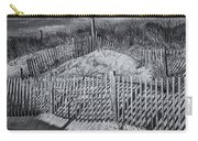 Beach Fence Bw Carry-all Pouch