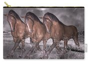Beach Horse Trio Night March Carry-all Pouch by Betsy Knapp