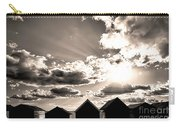 Beach Huts In Black And White Carry-all Pouch