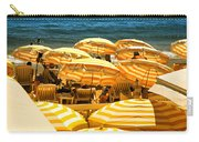 Beach In Cannes  Carry-all Pouch