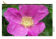 Pink Beach Rose Fully In Bloom Carry-all Pouch