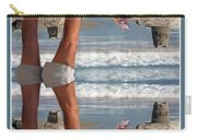 Beach Scene Carry-all Pouch by Betsy Knapp