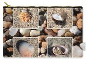 Beach Shells And Rocks Collage Carry-all Pouch by Carol Groenen