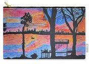 Beach Silhouette Carry-all Pouch by Sonali Gangane