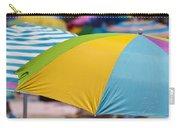 Beach Umbrella Rainbow 1 Carry-all Pouch