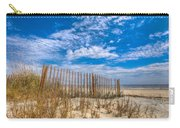 Beach Under Blue Skies Carry-all Pouch by Debra and Dave Vanderlaan