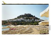 Beach View Of Lindos Carry-all Pouch
