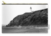 Beach View Of North Head Lighthouse Carry-all Pouch by Robert Bales