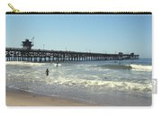 Beach View With Pier 2 Carry-all Pouch by Ben and Raisa Gertsberg