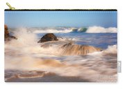 Beach Waves Smoothly Flowing Over The Rocks Fine Art Photography Print Carry-all Pouch