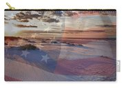 Beach With Flag Carry-all Pouch