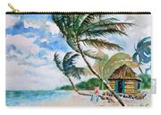 Beach With Palm Trees Carry-all Pouch