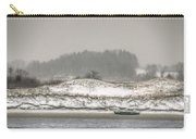 Beached Boat Winter Storm Carry-all Pouch