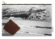 Beachside Warning Horizontal Bw With Colorized Red Sign Carry-all Pouch
