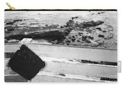 Beachside Warning Horizontal Grayscale Carry-all Pouch